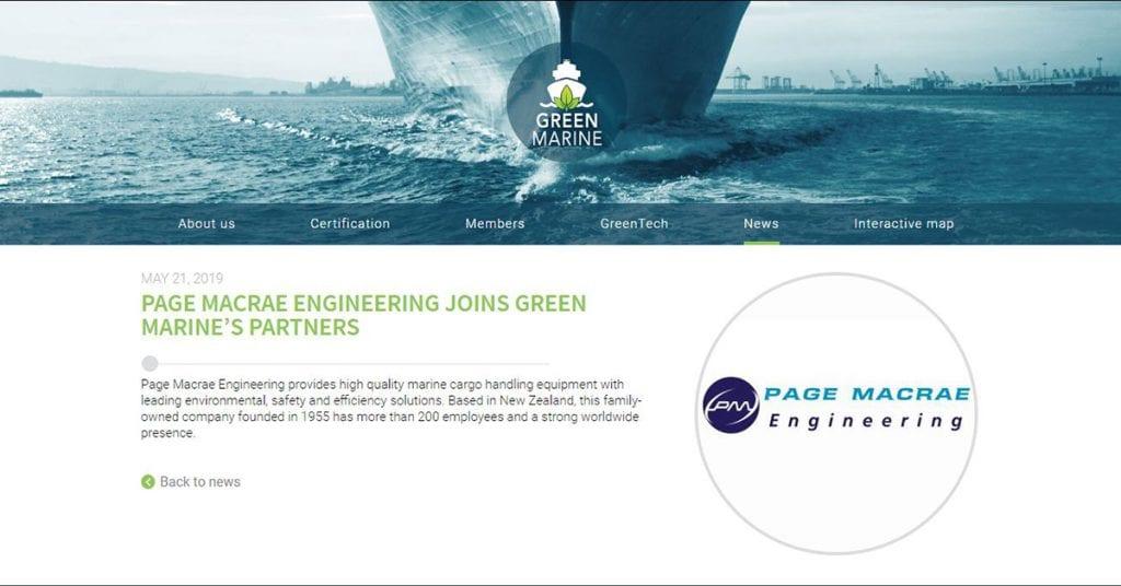 Page Macrae Engineering joins Green Marine