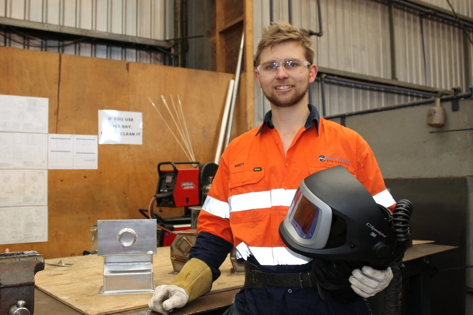 Third-year apprentice Matt Nielsen off to WorldSkills