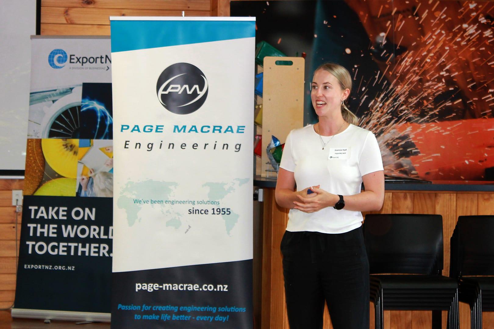 ExportNZ BOP Rub Shoulders with Page Macrae Engineering BA5 event