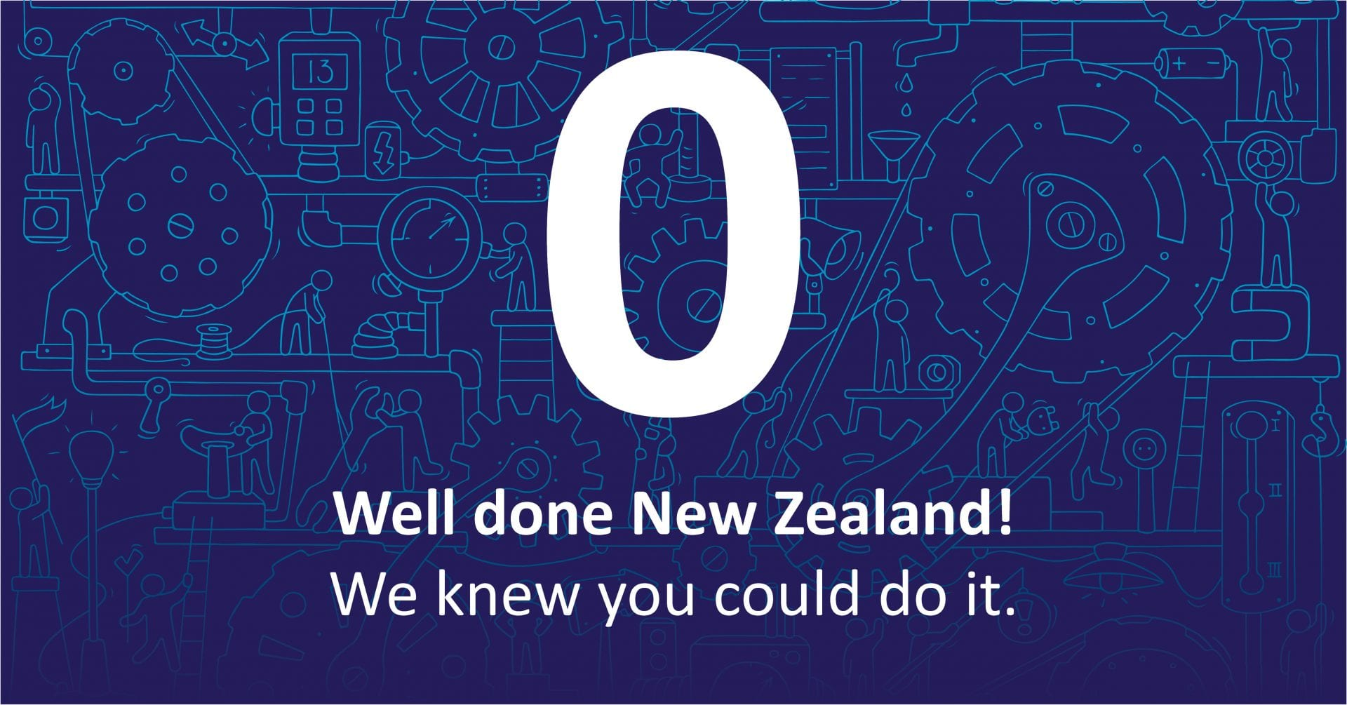 No active cases of COVID-19. Well done New Zealand! We knew you could do it!